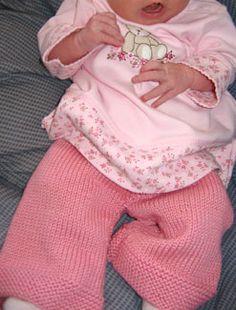 Free Knitting Pattern - Baby Knits: Baby Bell Bottoms