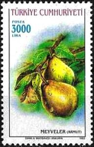 Turkey Stamp 1993 - Pears