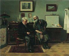 At the doctor's - Vladimir Makovsky