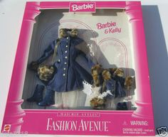 Barbie Fashion Avenue Denim Leopard Fur Barbie Kelly NRFP | eBay