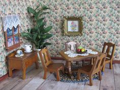 1930s Grand Rapids Dollhouse Dining Room Furniture  by TheToyBox