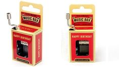 No puede faltar en un cumpleaños: caja musical Happy Birthday 1