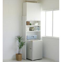 突っ張り式で安心!高級感ある家具調の洗濯機ラック(ツッパリセンタッキラック)