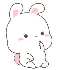 Cute Bunny Cartoon, Cute Cartoon Images, Cute Kawaii Animals, Cute Couple Cartoon, Cute Love Cartoons, Cartoon Gifs, Cute Images, Kawaii Cute, Cute Pictures