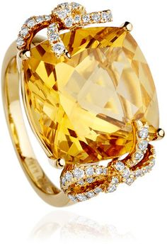 Kiki Citrine Bow Ring - Polyvore. So glad to have this stone as the November birthstone! :-)