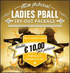 Ladies #try-out package, kom nu en ervaar een keer hoe het is om te paintballen!