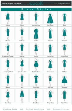 dress styles dress style/ clothing guide/ fashion vocabulary/ garment features a.Dress Style/ Clothing Guide/ Fashion Vocabulary/ Garment Features- Tap the link now to see our super collection of accessories made just for you! Fashion Terminology, Fashion Terms, Fashion 101, Fashion Guide, Fashion Ideas, Fashion Style Guide, Fashion Style Types, Kids Fashion, Fashion Infographic