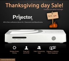 #Thanksgiving Day Sale!  Brought to you by prijector.com world's best #wireless_screen_sharing and #wireless_presentation_device for your #meetings, #classrooms & #conference_rooms. #thanksgivingcountdown #offers