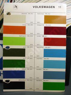 68 Vw transporter original colors - Google-haku