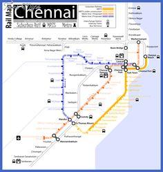 nice Chennai Metro Map