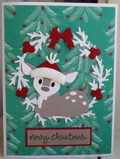 Scrapcard girls Marianne Design Cards, 52 Weeks, Baby Deer, Bambi, Christmas Cards, Challenges, Card Ideas, Advent Calendar, Christmas