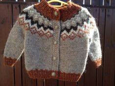 Made to order Icelandic sweater baby sweater handknit by Klettur Baby Cardigan, Baby Pullover, Sweater Cardigan, Jumper, Baby Sweaters, Wool Sweaters, Handmade Shop, Etsy Handmade, Icelandic Sweaters