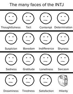 The many faces of the INTJ [OC]