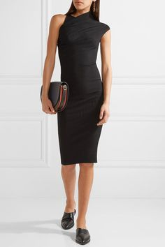 Narciso Rodriguez - Stretch Ribbed-knit Dress - Black - IT44