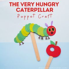The Very Hungry Caterpillar craft Winter Activities For Toddlers, Craft Activities For Kids, Activity Ideas, Recycled Crafts Kids, Craft Projects For Kids, Kids Crafts, Glue Crafts, Book Crafts, All About Me Crafts