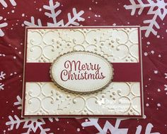 They are finished!!! This is my customer Christmas card for this year. I used the Snowman Sentiments stamp set and the Holly Embossing Folder from Stampin' Up!