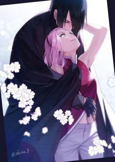Sasuke and sakura. Sasuke and Sakura in love. Naruto Shippuden Sasuke, Anime Naruto, Sasuke Uchiha Sakura Haruno, Sakura And Sasuke, Naruto And Sasuke, Otaku Anime, Manga Anime, Sakura Sakura, Hinata