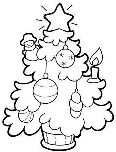 Színező gyerekeknek.  Karácsony Karácsonyfa