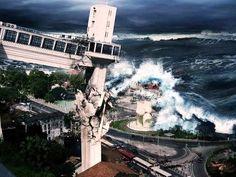 Parece que o dilúvio não para em Salvador kkk'