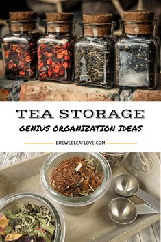Tea storage and tea organization ideas you can use to organize your tea and all your tea equipment. From inexpensive to fancy, there are so many ways to organize your tea storage.