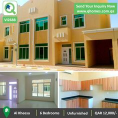 Villa for Rent in Qatar: 6 Bedrooms Unfurnished Villa in a Compound in Al Kheesa at QAR 12,000/-