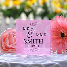 Personalized Floral Cake Topper – USD $ 16.99