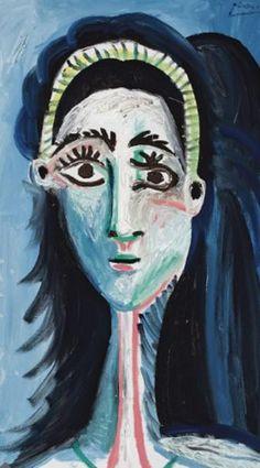 Cabeza de mujer (1963) - Pablo Ruíz Picasso http://artepinturaygenios.blogspot.com/2011/02/pablo-ruiz-picasso-etapa-final.html