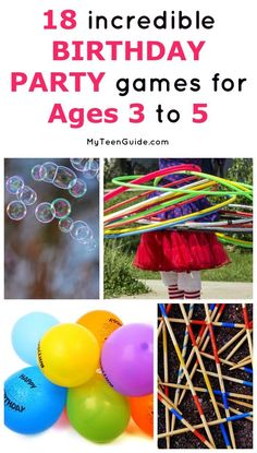 18 Incredible Birthday Party Games for Ages 3 to 5 There are plenty of games you can plan for an indoor party. I compiled a list to get you started on indoor party games for kids ages years old! Kids Party Games Indoor, Birthday Party Games Indoor, Superhero Party Games, 3 Year Old Birthday Party, Princess Party Games, Toddler Party Games, Unicorn Birthday Parties, Birthday Games For Kids, 4th Birthday
