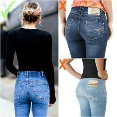 Como não usar jeans - cuidado com acabamento