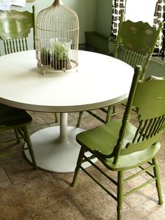 painted kitchen tables and chairs ideas | painted and distressed kitchen chairs last weekend and i