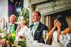 Fantastic speeches during this beautiful wedding reception at Madingley Hall, Cambridgeshire.
