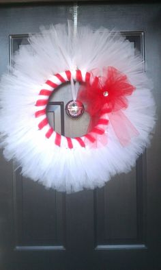 On FB or Etsy as Sunshine and Happy shop. This tulle wreath is so fun! You could switch the bell for a heart for Valentines :)