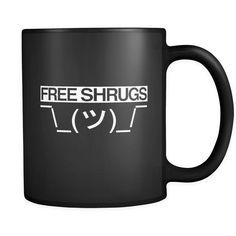 "Funny ""Free Shrugs"" Mug (Take-off on Free Hugs)"