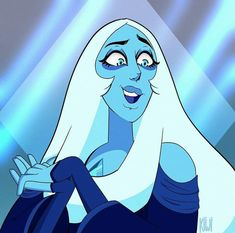 Pink Diamond Jewelry - rare and expensive, how much do they cost? Diamante Azul Steven Universe, Blue Diamond Steven Universe, Jasper Steven Universe, Steven Universe Characters, Steven Universe Memes, Blue Diamond Su, Universe Art, Fanart, Cartoon Drawings