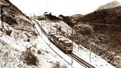 Locomotivas #Hitachis em 1974 ainda em testes!!! SERRA CREMALHEIRA - PARANAPIACABA - BRASIL!!!