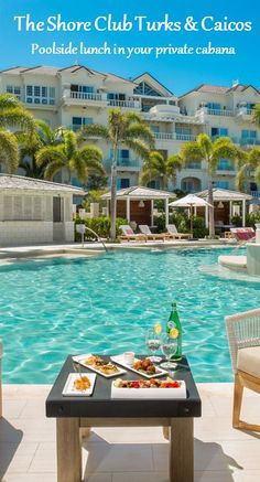 Poolside lunch in your private cabana at The Shore Club Turks & Caicos Amazing Hotels, Best Hotels, Amazing Places, Turks And Caicos, Home And Away, Classical Music, Cabana, Fun Activities, Trip Planning