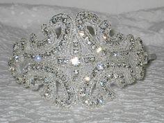 Rhinestone Headband Silver Headband Wedding by bethdanielle, $45.00