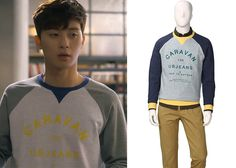 """Park Seo-Joon in """"Witch's Romance"""" Episode Unionbay Caravan Sweatshirt Witch's Romance, Seo Joon, Korean Drama, Caravan, Dramas, Park, Sweatshirts, Sweaters, Clothes"""
