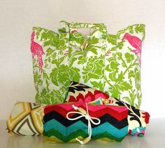 Large Roll Up Market Tote  Eco Friendly Tote   by lovesaraxoxo, $34.00