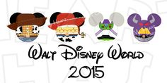 Toy Story characters Mickey Mouse Head ears 2015 INSTANT DOWNLOAD digital clip art Image :: My Heart Has Ears