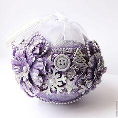 Купить Елочное украшение - шар - новогодний шар, елочное украшение, елочная игрушка, елочный шар: