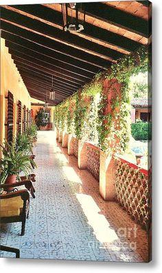 Mexico Hacienda Corridor Acrylic Print By Jodie  Scheller