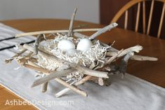 Driftwood nest centerpiece/basket