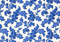 Scrolling Acanthus Wallpaper - Cobalt | Soane