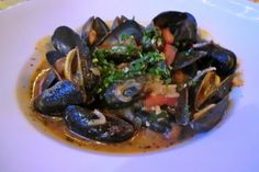 steamed mussels in tomato-based sauce | Yelp
