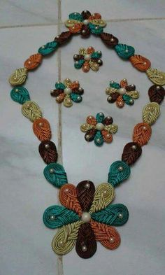 Macrame Knots, Kaftans, Couture, Fabric Flowers, Crocheting, Embroidery Designs, Crochet Necklace, Creations, Models
