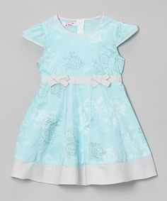 Take a look at this Blue & Gray Floral Dress - Toddler & Girls by Mikko Kids on #zulily today!