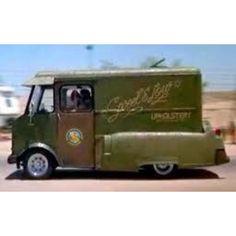 Cheech & Chong's upholstery truck!!! Lol!!!