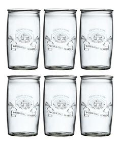Another great find on #zulily! Country Farm Hiball Glass - Set of Six #zulilyfinds