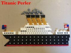 My son asked for a titanic perler…didn't think I could do it. I was wrong.